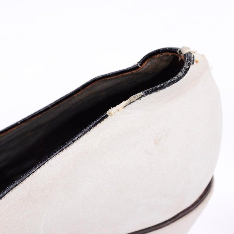 Brazilian Leather 1940s Novelty Peep Toe Platform Heels Piano Key Vintage Shoes For Sale 7
