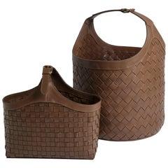 Brazilian Leather Baskets