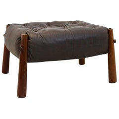 Brazilian Leather MP-81 Ottoman by Percival Lafer