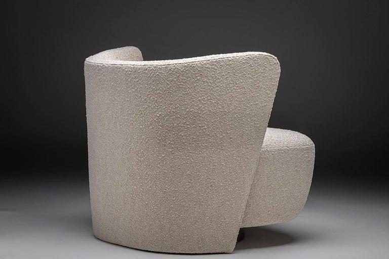 Modern Brazilian Lounge Chair by Juliana Lima Vasconcellos and Matheus Barreto For Sale
