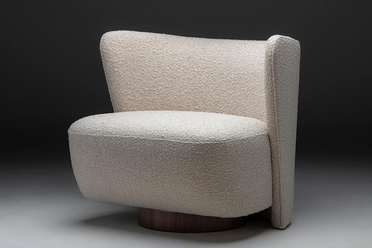Contemporary Brazilian Lounge Chair by Juliana Lima Vasconcellos and Matheus Barreto For Sale
