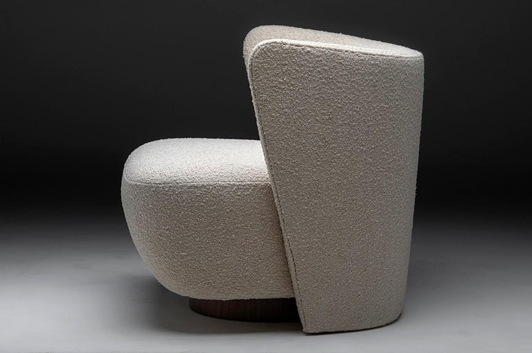 Upholstery Brazilian Lounge Chair by Juliana Lima Vasconcellos and Matheus Barreto For Sale