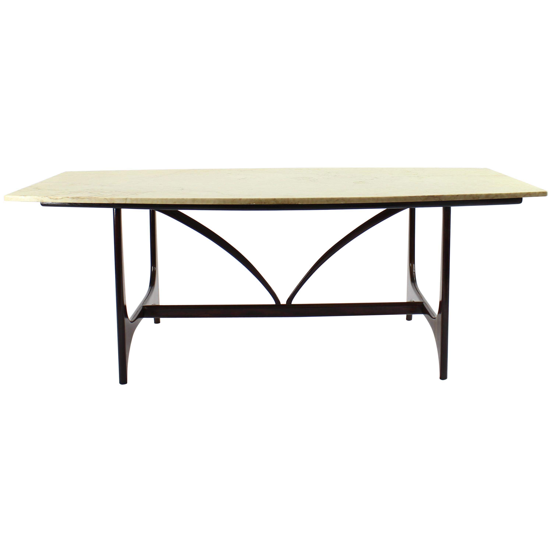 Brazilian Midcentury Brasilia Table in Rosewood Attributed to Joaquim Tenreiro