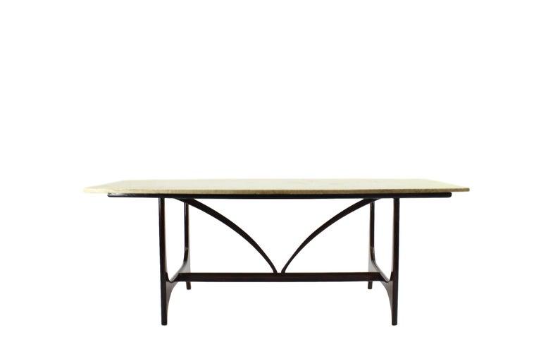 Mid-Century Modern Brazilian Midcentury Brasilia Table in Rosewood Attributed to Joaquim Tenreiro For Sale