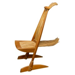 Brazilian Midcentury Chair in Cherrywood and Essaywood, 1950s