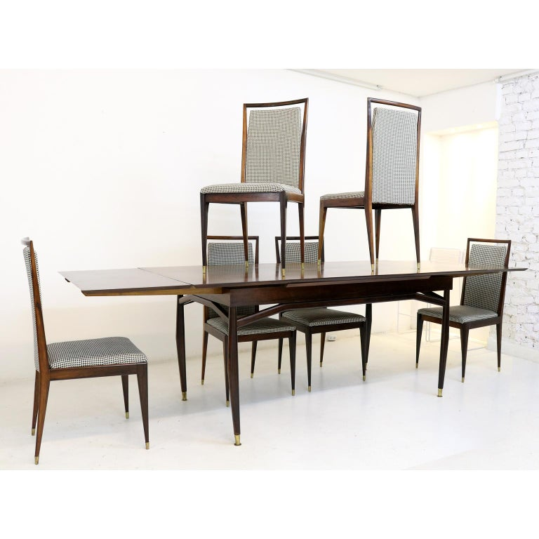 Brazilian Midcentury Jacaranda Dining Chair In Good Condition For Sale In Sao Paulo, SP