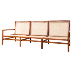 Brazilian Modern Cane Three Seat Sofa by Joaquim Tenreiro, Early 1960s