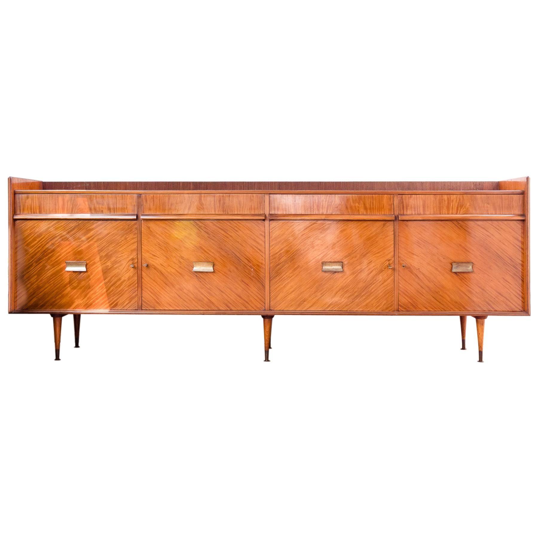 Brazilian Modern Sideboard in Hardwood, Designed by Giuseppe Scapinelli