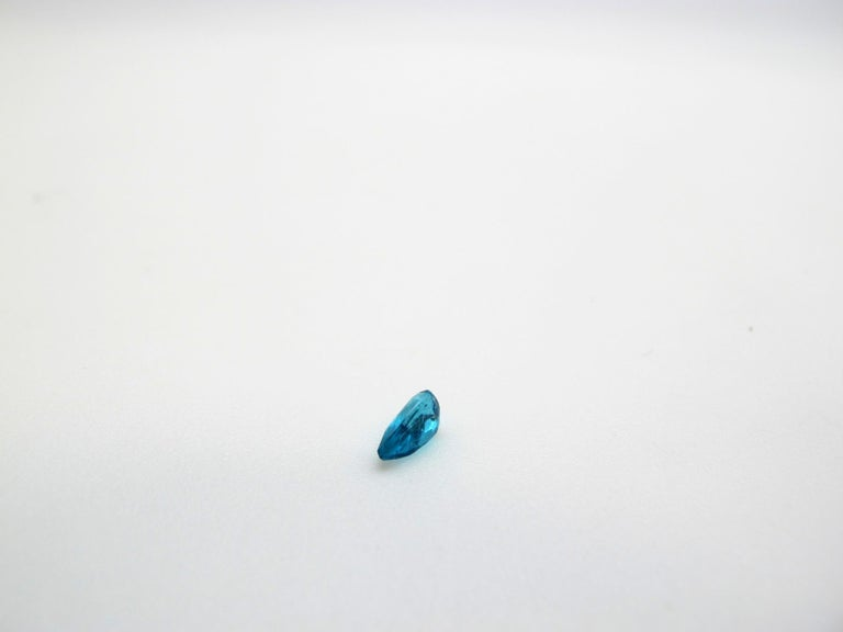 Brazilian Paraiba Tourmaline .34 Carat, GIA Certified In New Condition For Sale In Los Angeles, CA