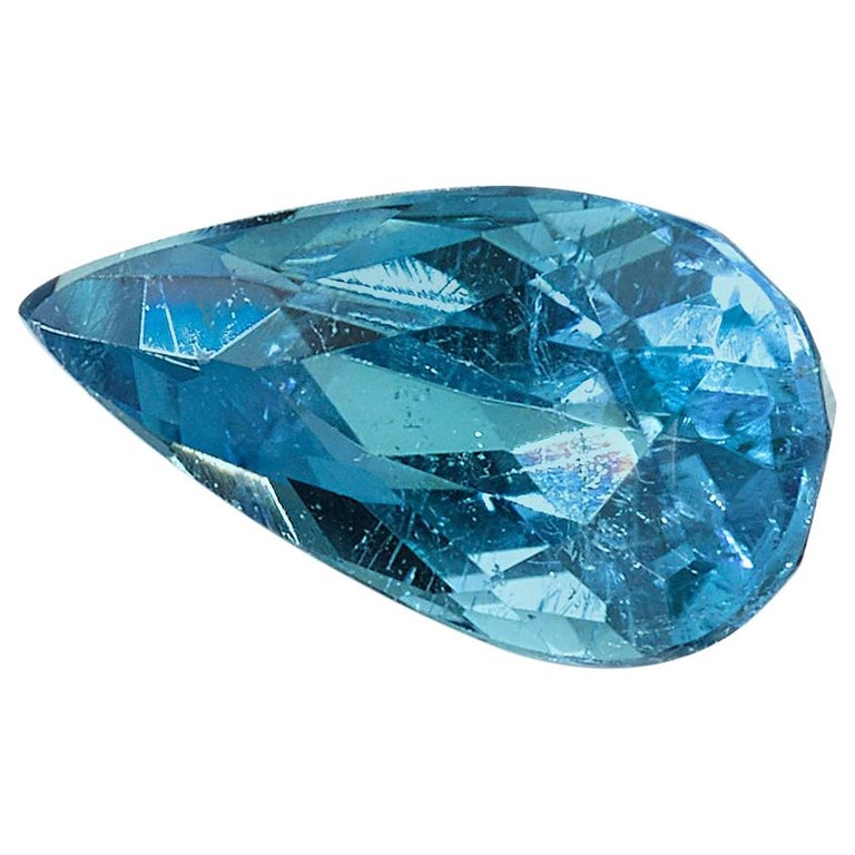 Brazilian Paraiba Tourmaline .34 Carat, GIA Certified For Sale