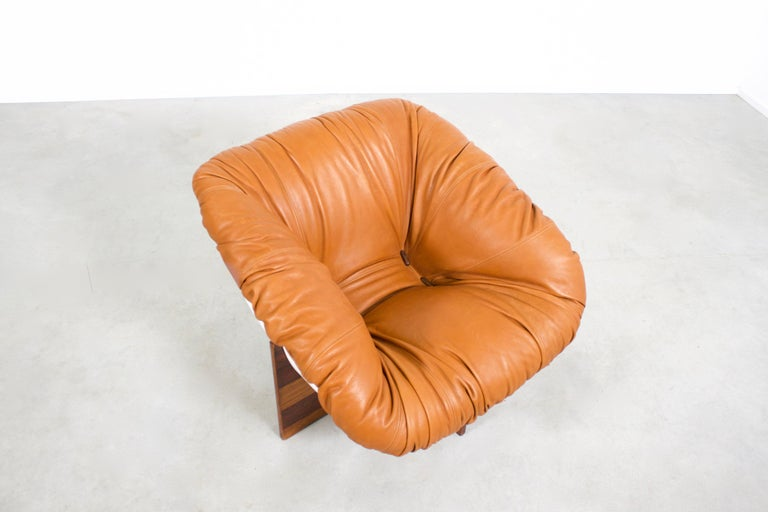 Brazilian Percival Lafer MP-61 Chair in Rosewood and Fiberglass, 1970s  For Sale 1