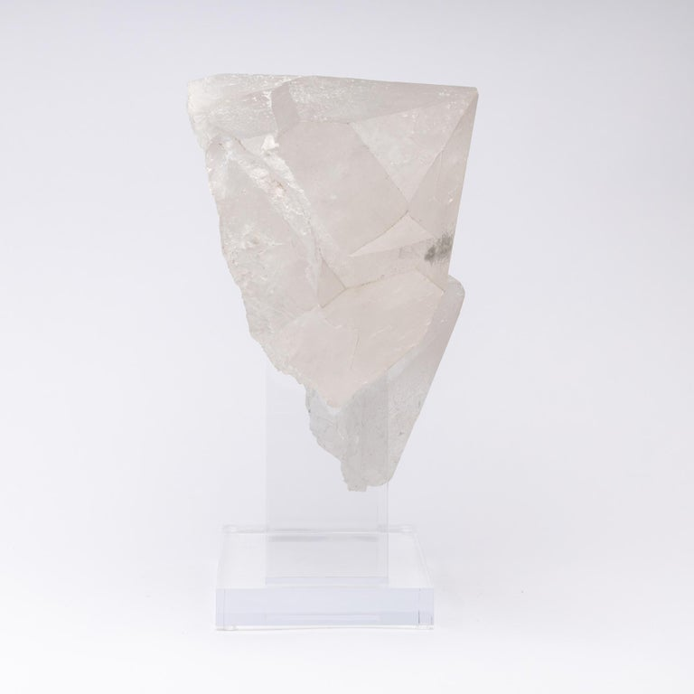 Contemporary Brazilian Quartz Cluster Natural Form in Acrylic Base For Sale
