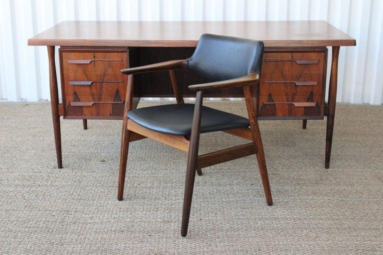Brazilian Rosewood Armchair by Svend Åge Eriksen for Glostrup, Denmark, 1960s For Sale 1