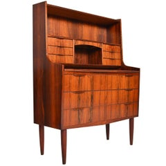 Brazilian Rosewood Bookcase Secretary Desk with Vanity