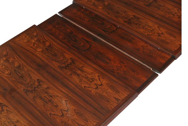 Scandinavian Modern Brazilian Rosewood Danish Modern Dining Table by France & Son For Sale