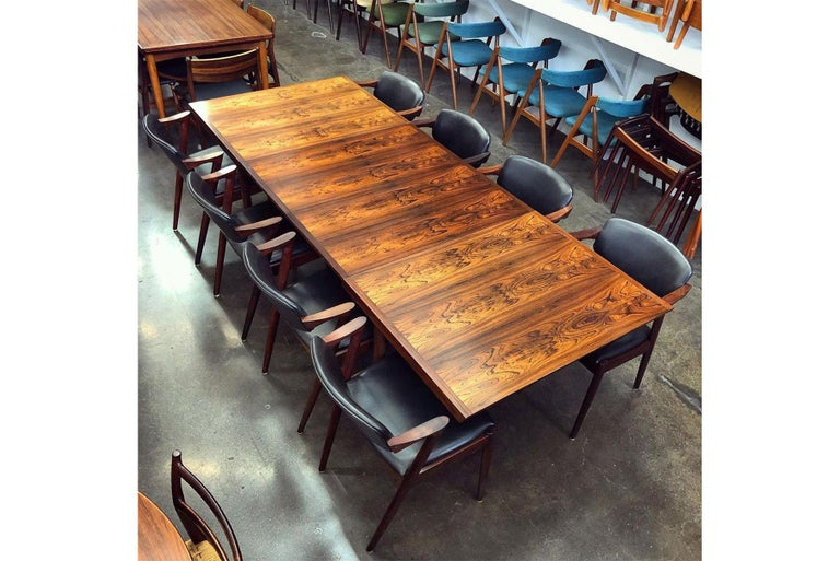 Brazilian Rosewood Danish Modern Dining Table by France & Son In Good Condition For Sale In Berkeley, CA