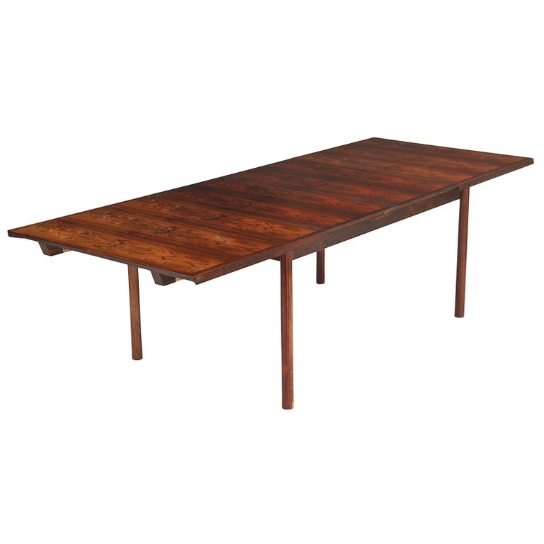 Brazilian Rosewood Danish Modern Dining Table by France & Son For Sale