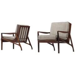 Brazilian Rosewood Easy Chairs by Liceu de Artes e Officios
