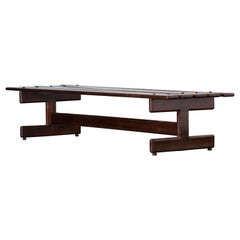 Brazilian Rosewood Large Bench by Fatima Moveis