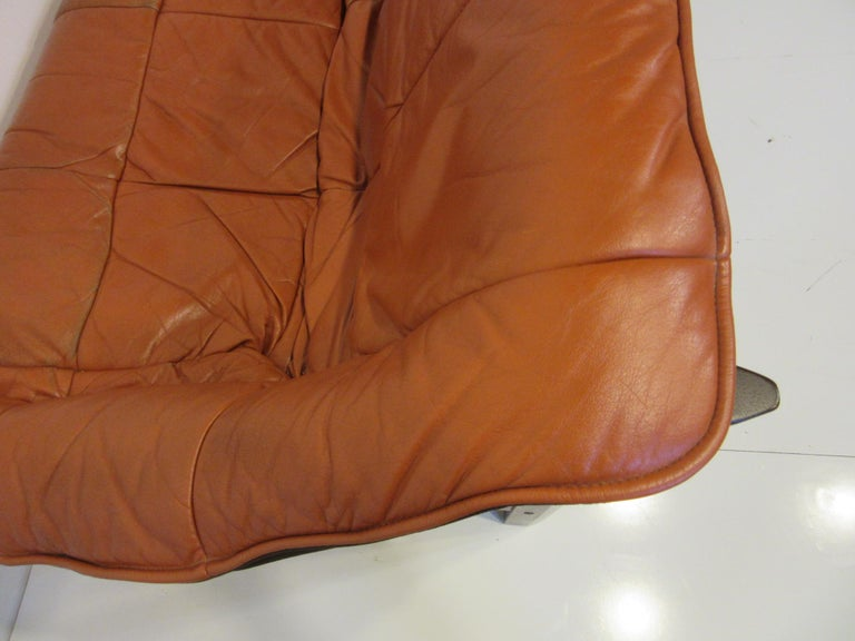 Brazilian Rosewood / Leather Sofa by Percival Lafer 5