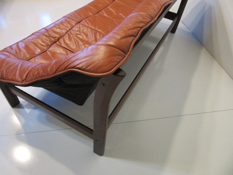 Brazilian Rosewood / Leather Sofa by Percival Lafer 1