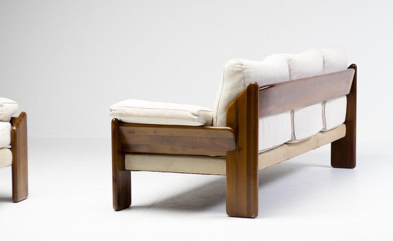 Wool Brazilian Rosewood Living Room Set For Sale