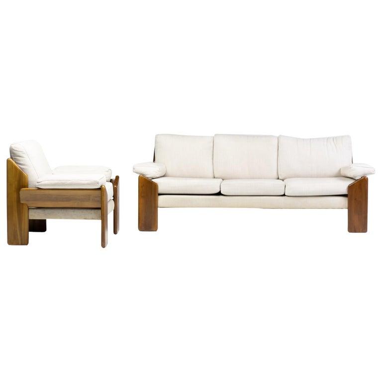 Brazilian Rosewood Living Room Set For Sale