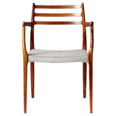 Brazilian Rosewood Model 62 Armchair by Niels Moller, 1962