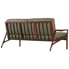 Brazilian Rosewood Sofa by Liceu De Artes e Officios, Midcentury
