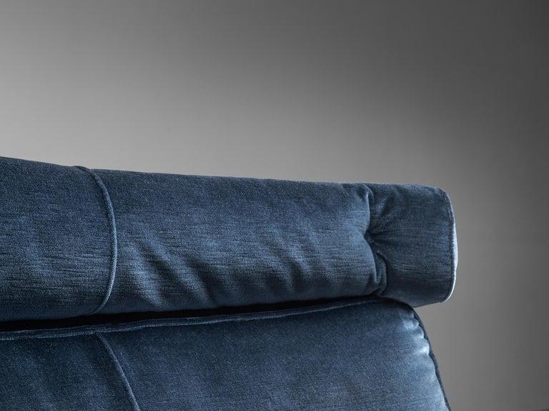 Brazilian Rosewood Sofa in Velvet Upholstery For Sale 2