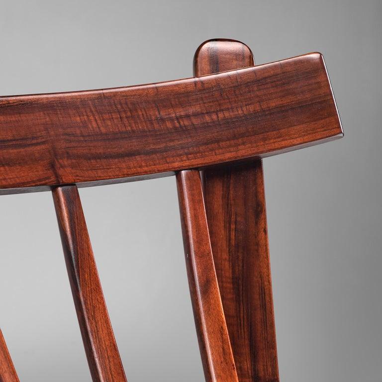 Brazilian Rosewood Sofa in Velvet Upholstery For Sale 3