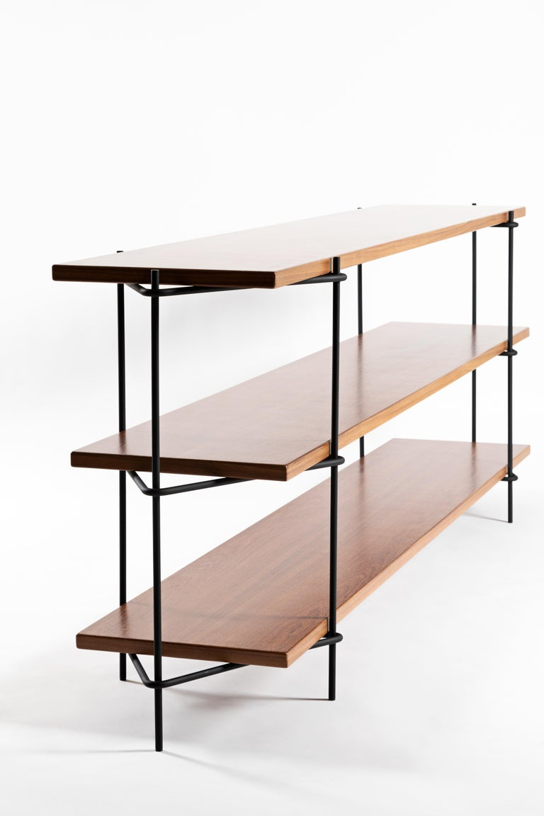 Painted Minimalist Brazilian Shelf System  'Carlos' by Samuel Lamas For Sale