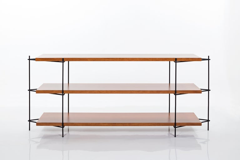 Contemporary Minimalist Brazilian Shelf System  'Carlos' by Samuel Lamas For Sale