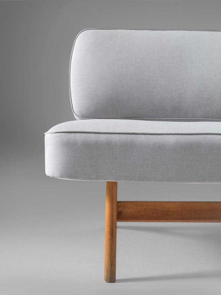 Fabric Brazilian Sofa by Móveis Cimo, 1950s For Sale