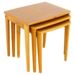 BRDR Furbo Spottrup Mid Century Teak Nesting Tables, Set of 3