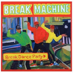 'Break Dance Party' Portrait Painting by Alan Fears Pop Art