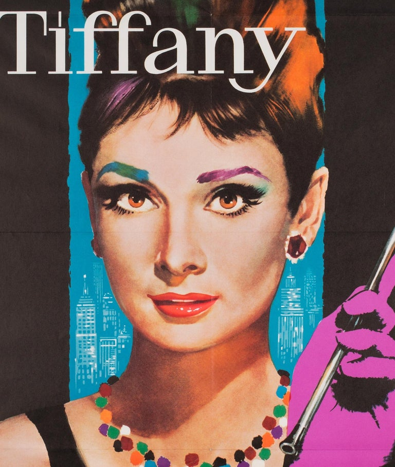 We adore the German film poster for 1960s Classic Breakfast at Tiffany's. Lutz Peltzer's design is simply fabulous darling!  This first-year-of-release for the film in Germany poster is extremely rare and highly collectible, especially in such