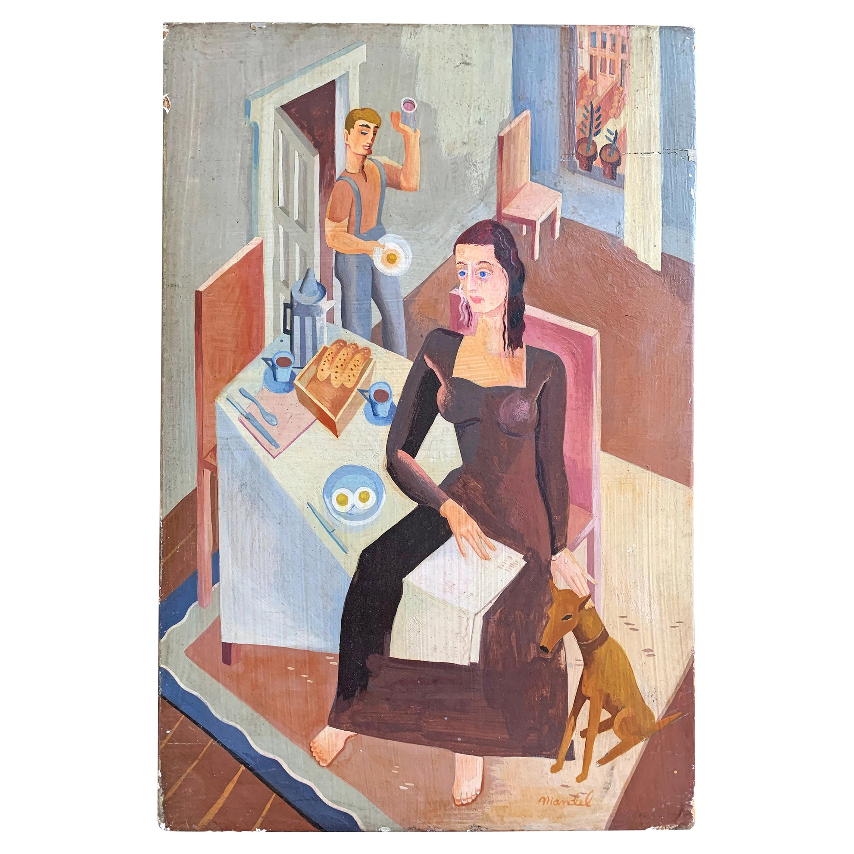"""Breakfast, New York Rowhouse, 1940s,"" Brilliant WPA-Era Genre Scene"