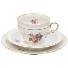 Breakfast Set Cup with Saucer and Plate, Damaged