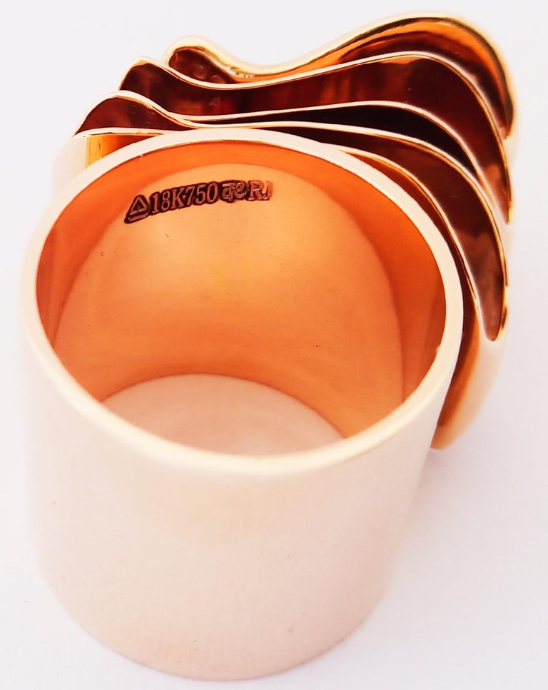 Articulate Your One of a Kind with Contemporary Diamond Rose Gold Fashion Ring For Sale 5
