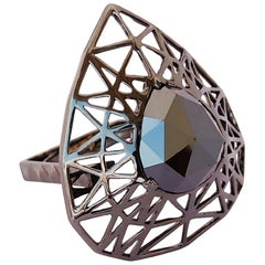 Breathe Fresh Air in Your Life with One of a Kind Cocktail Black Diamond Ring