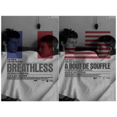 Breathless R2010 U.S. One Sheet Film Poster Set of 2