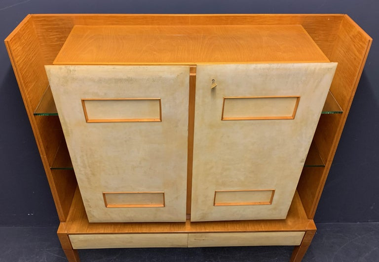 Breathtaking Cabinet or Bar Attributed to Andre Arbus For Sale 4