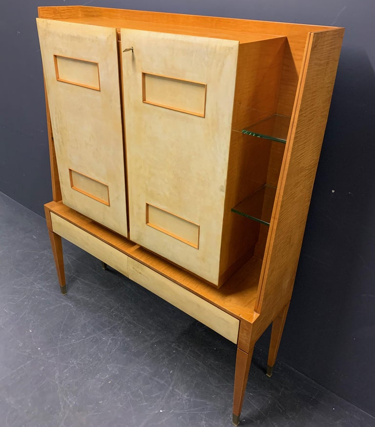 Breathtaking Cabinet or Bar Attributed to Andre Arbus For Sale 10