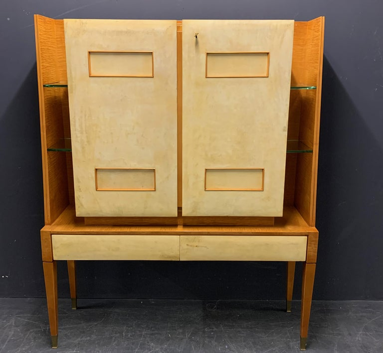 Art Deco Breathtaking Cabinet or Bar Attributed to Andre Arbus For Sale