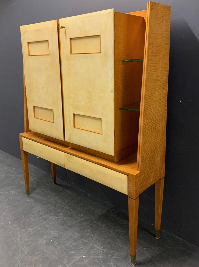French Breathtaking Cabinet or Bar Attributed to Andre Arbus For Sale