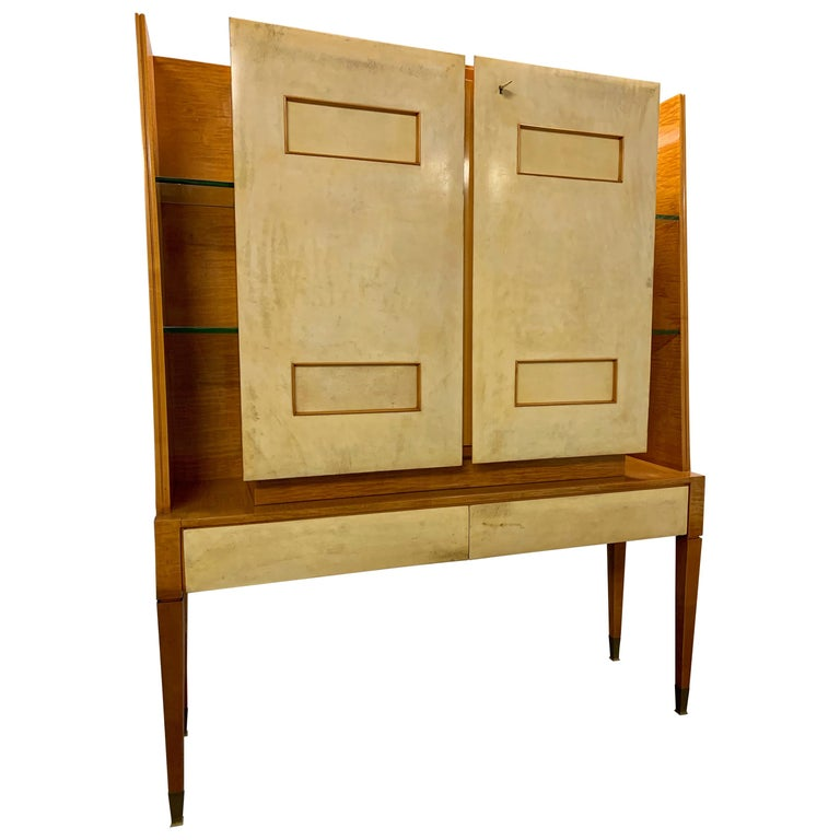 Breathtaking Cabinet or Bar Attributed to Andre Arbus For Sale