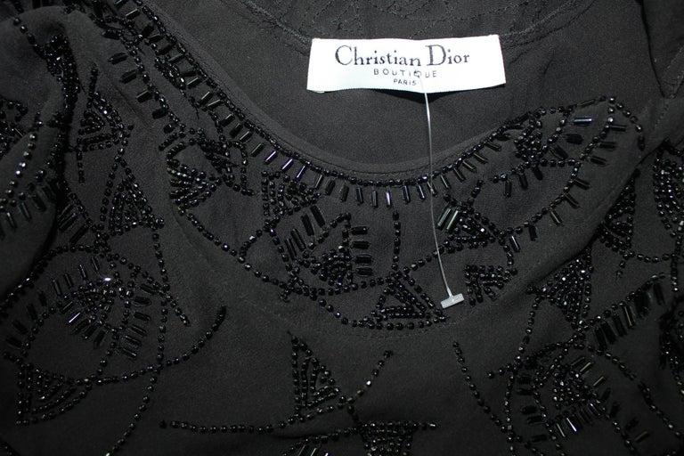 Breathtaking Christian Dior Embellished Silk Chiffon Evening Gown Dress For Sale 2