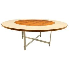 Breathtaking Circular Extension Table No. 54 by Jorgen Hoj