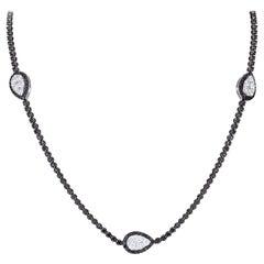 Breathtaking Diamond 18 Karat White Gold Necklace for Her